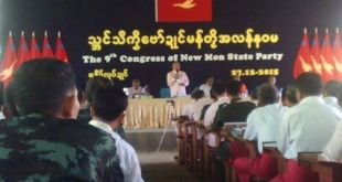 NMSP Chairman speaking at party congress (Photo: Internet)