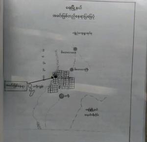 Photo caption: Map of Makyee Village details shooting site (Photo: MNA)