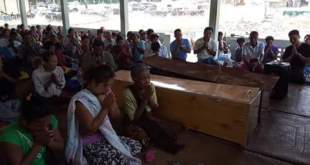 Funeral of two fishermen shot dead by Tatmdaw personal (Photo: Mi Hong Sa)