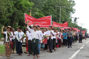 Residents protest activities of Long Life Aggregate Mining Co., Ltd (Photo: MNA)