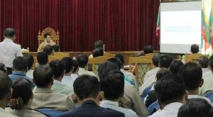 Chief Minister and other government officials presented at 100-Day project meeting (Photo: MNA)