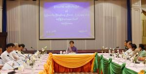 Meeting of State Counselor and preparatory committee for Union Peace Conference (Photo: Myanmar State Counselor Office)