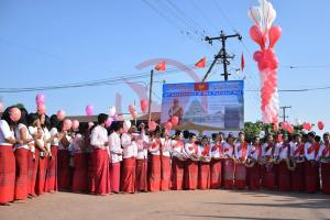 Event of setting up signboard of 70th Mon National Day Central (Photo: MNA)