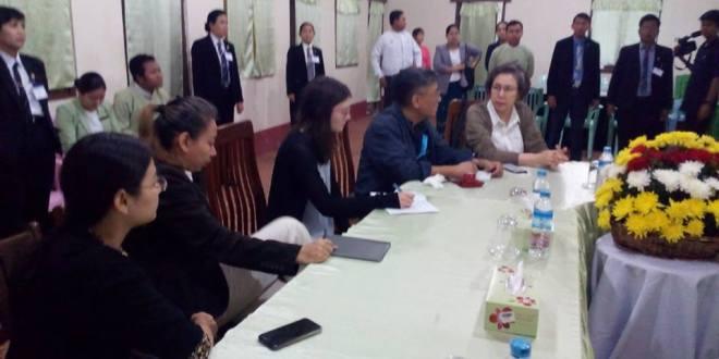UN Special Rapporteur Yanghee Lee and her team (Photo: MNA)