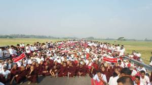 More than 3,000 protesters gathered on March 3 (Photo: MNA)