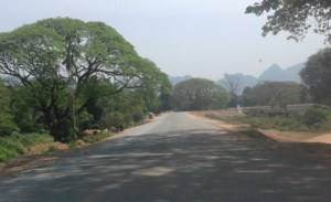 Highway near Htee Pho Naing Village (Photo: MNA)