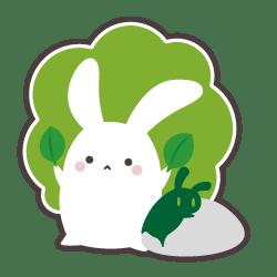 うさぎさん × 植物のキャラクター