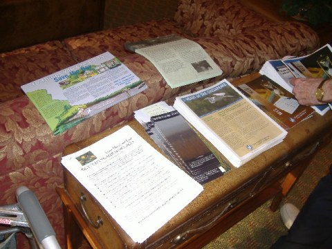 A table full of everything you wanted to know about local environmental issues and then some.