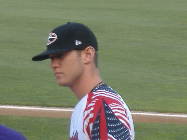 Nate Nery was sporting the patriotic uniform when I took this picture June 14.