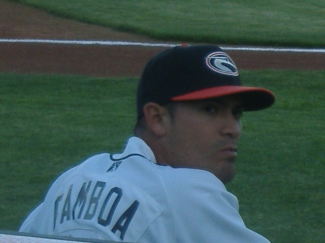 It wasn't quite time for the ballgame yet, but Eddie Gamboa had his game face already on before a recent contest.