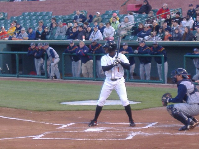 Xavier Avery at the plate during the home opener against Lake County.