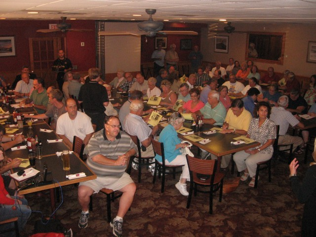 Tonight's AFP meeting had the largest crowd yet crammed into a meeting room at Adam's Ribs. Photo courtesy of Nick Loffer.