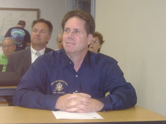 United States Senate candidate Dr. Eric Wargotz patiently awaits his chance to speak to Wicomico County Republicans at their meeting, August 24, 2009.