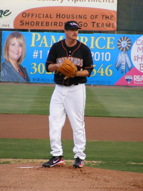 Scott in his first start, April 11 against Kannapolis.