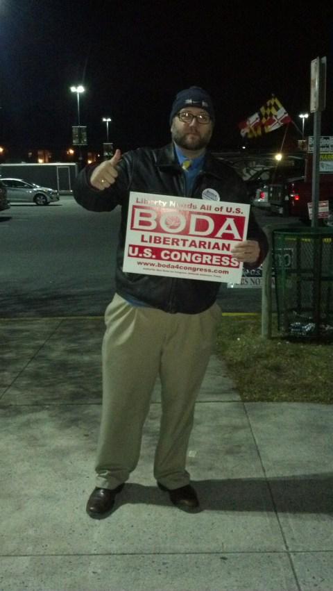 Libertarian candidate Muir Boda.