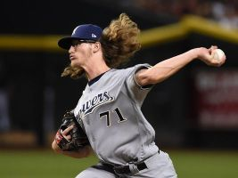 The hair is a dead giveaway, but Josh Hader surely was known as an up-and-coming lefty reliever in 2017.