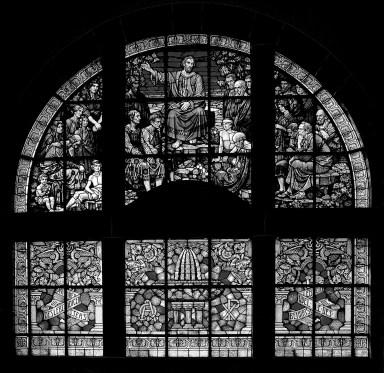 Bergpredigtfenster Peterskirche Weinheim by Roger Schäfer.