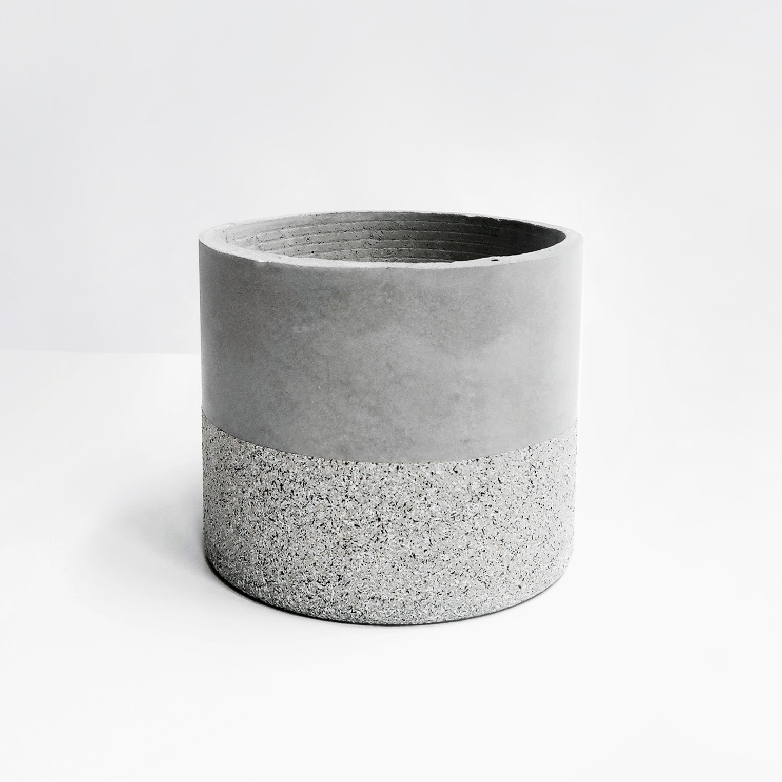 GRANITE 花崗岩深圓水泥盆器 / Deep cylinder concrete pot