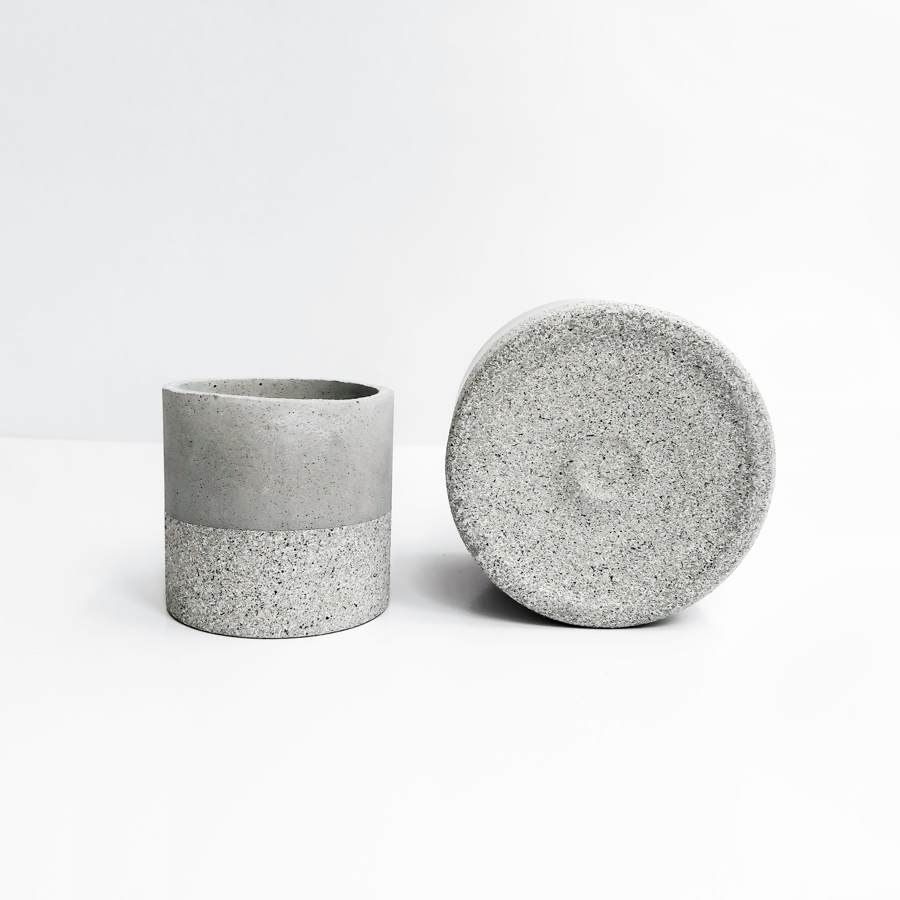 GRANITE 花崗岩深圓水泥設計家飾・盆器・盆栽