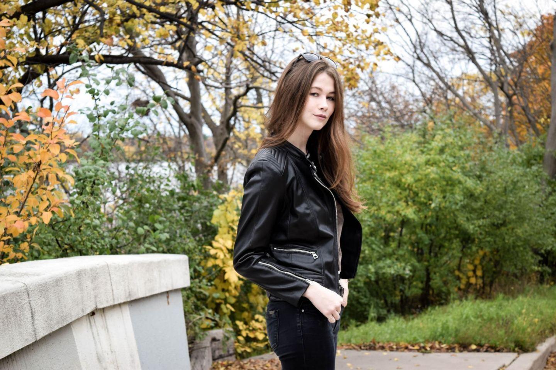 Leather Jacket 3 | Monochrome Minimalist