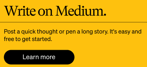 Write on Medium. Post a quick thought or pen a long story. It's easy and free to get started.