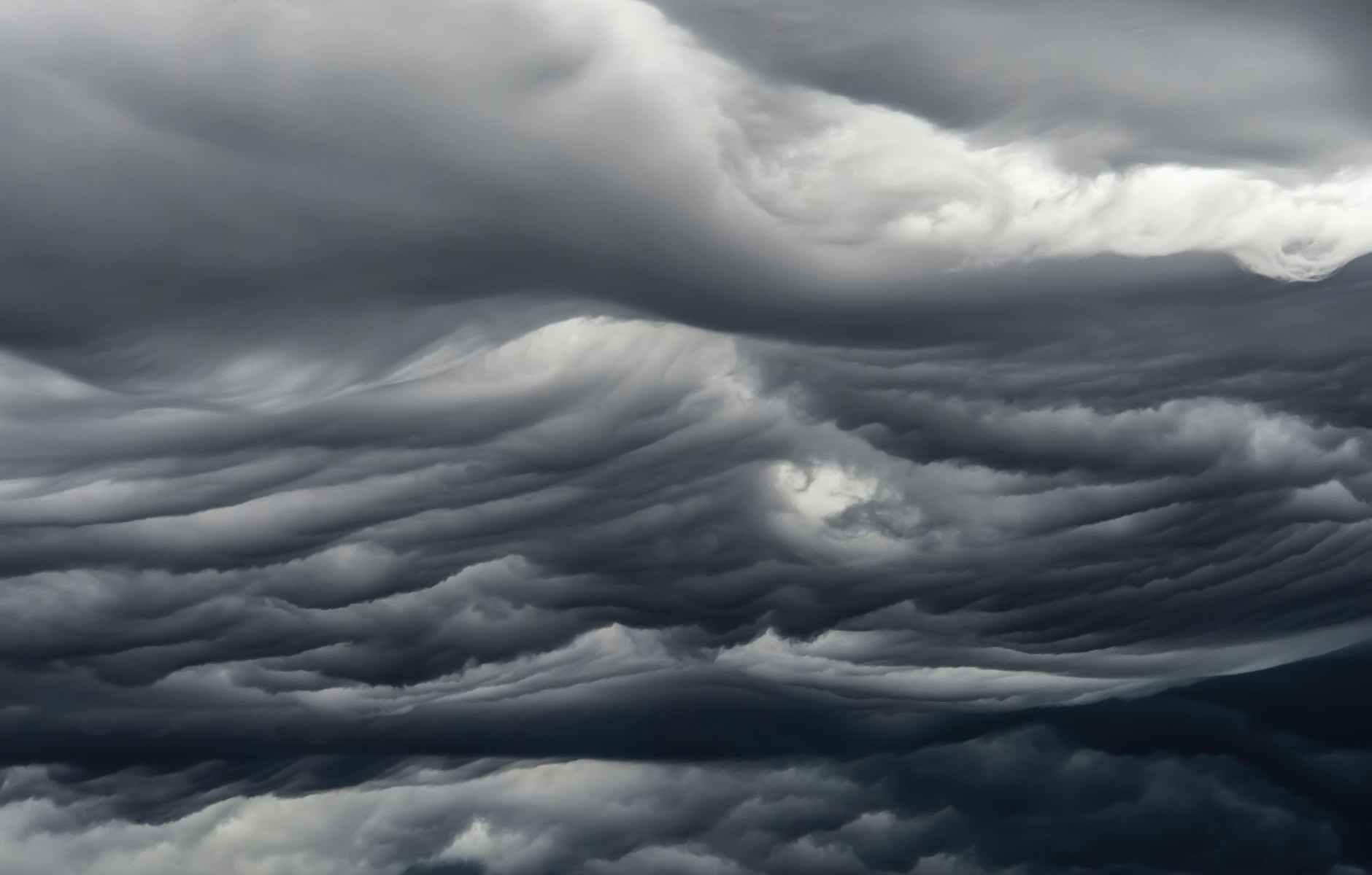 asperitas dark clouds in gloomy sky