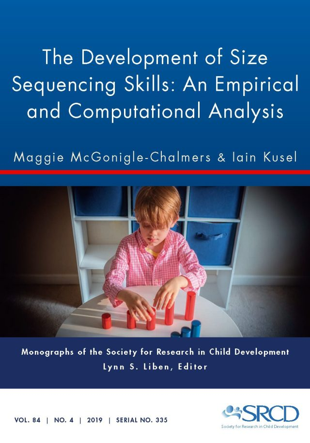 Cover of the Volume 84 Issue 4 of the scholarly journal, Monographs of the Society for Research in Child Development