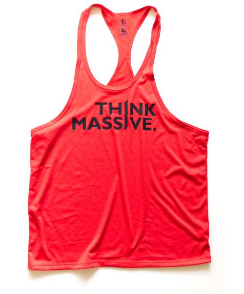 Mens Think Massive Red Stringer Front