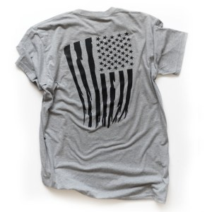 Monolith Tattered Flag T-shirt Back