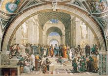 Rafael, La escuela de Atenas. Pintura Renacentista