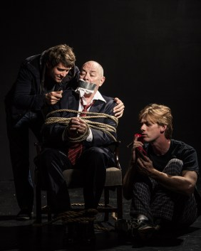 """David Shoemaker, Eric Park and Jeff Murray in """"Orphans"""" Photo Courtesy of Ken Stanek"""