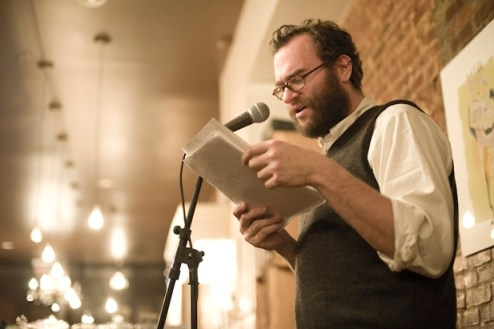 joshua Beckman Reading, Photo Courtesy of Wave Books