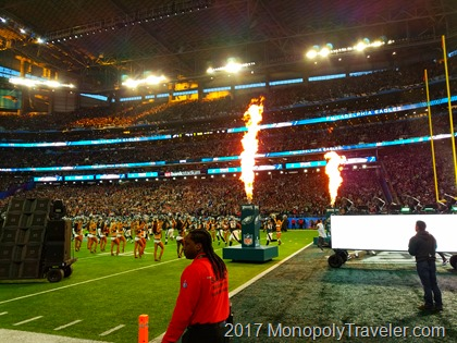 Players entering the field