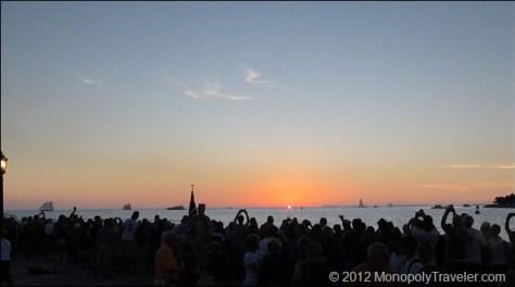 Crowd Gathered to Watch an Amazing Setting Sun