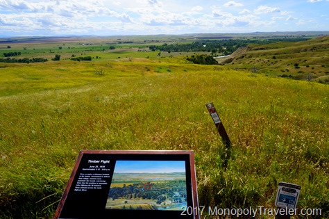 Looking at the landscape at a portion of Custer's Last Stand