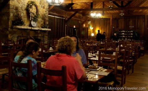 Dinner in the Big Meadows Lodge