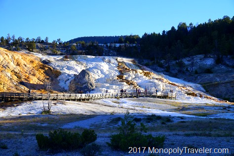 The Mammoth Hot Spring Terraces