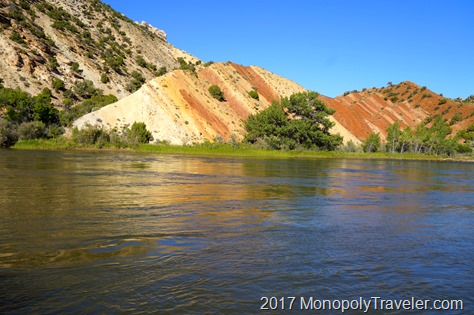 The Yampa River cutting through Dinosaur NM