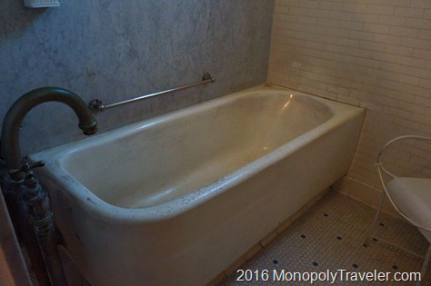One of the bath tubs used to soak in the natural warm water