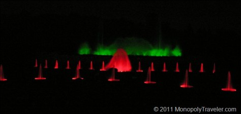 Water and Light Show at Longwood Gardens