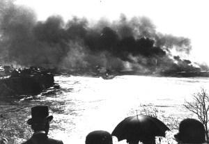 Le Grand feu survenu à Hull en 1900 .