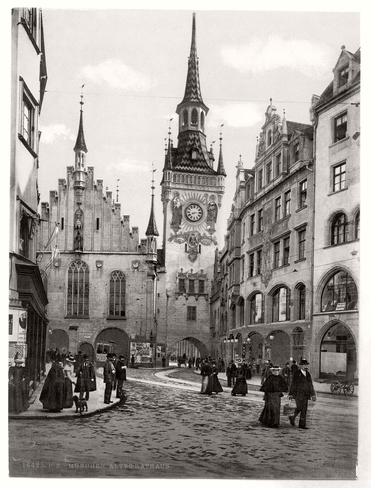 Historic BW photos of Munich Bavaria Germany in the