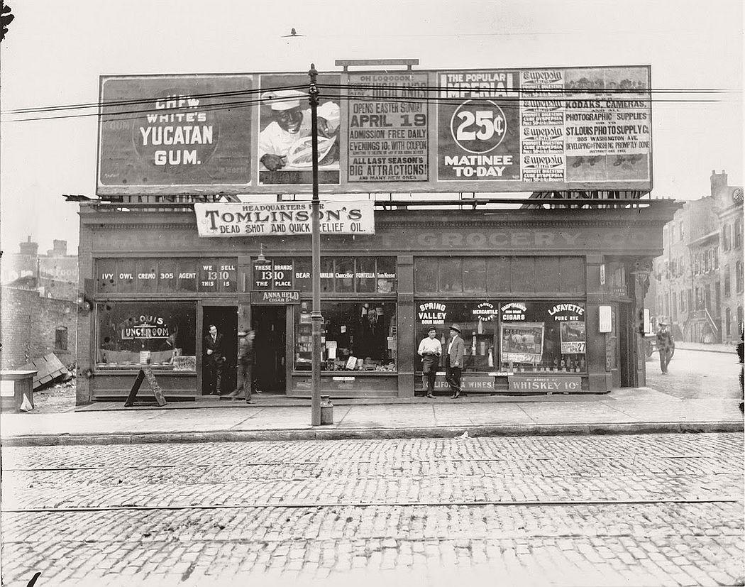 Vintage St Louis Streets circa 1900  MONOVISIONS