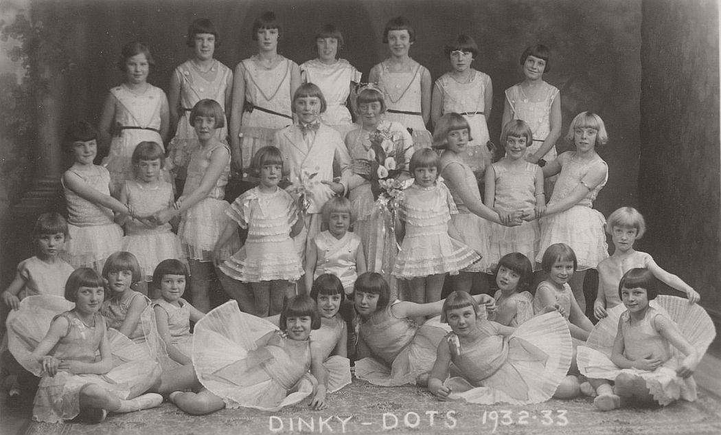 Vintage Group photos of Dancing Girls 1910s1930s