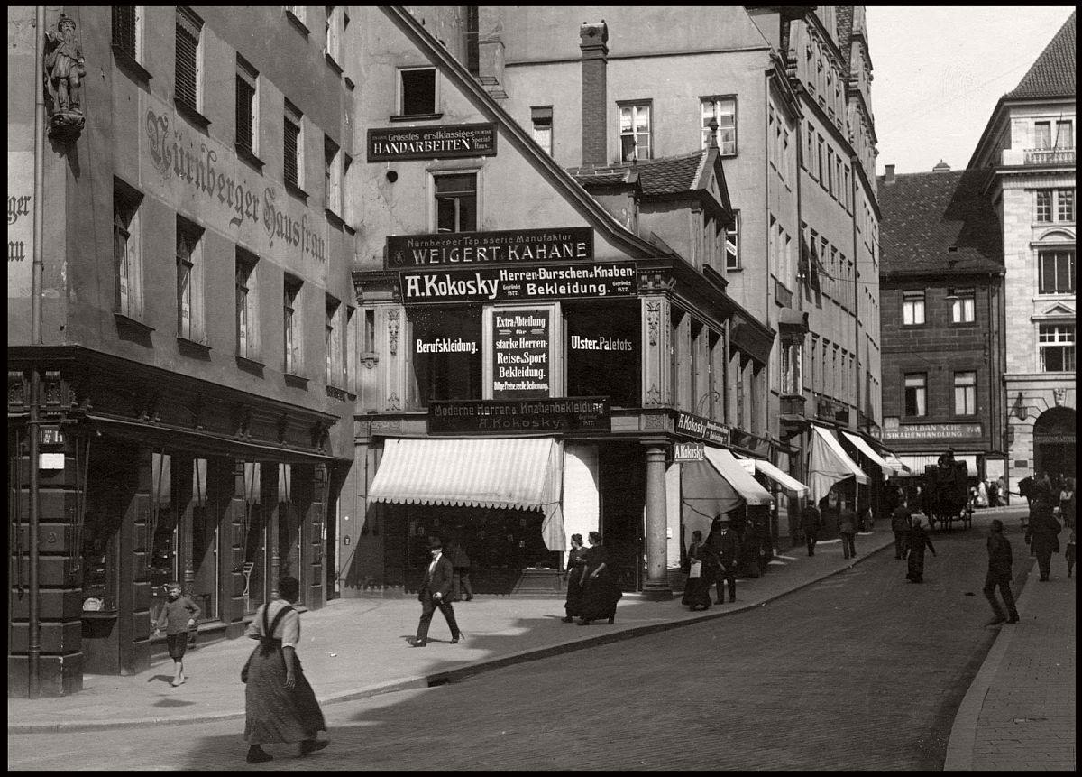 Vintage Everyday Life and Street Scenes of Nuremberg 1910s  MONOVISIONS