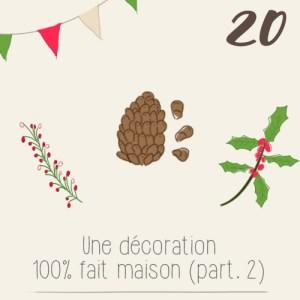 illustration calendrier de l'avent 2015 par mon petit balcon jour 20 - DIY pour décorer sa table de Noël sans trop dépenser