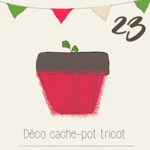 Réchauffer ses plantes en hiver avec des cache-pots tricot - illustration