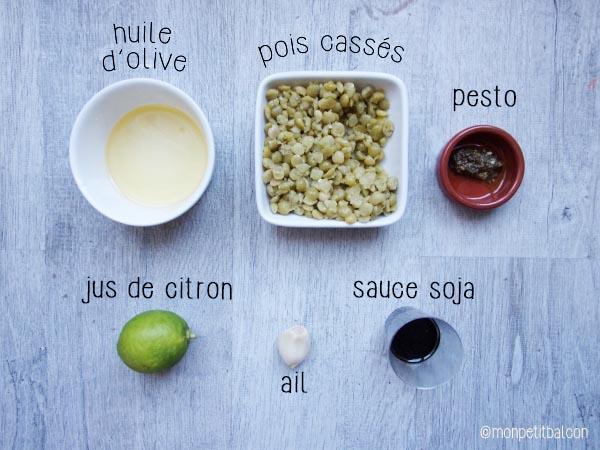 Noël végétarien : trio de houmous, ingrédient le houmous italiano