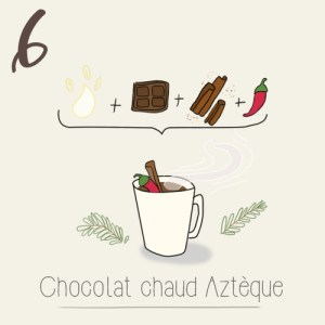 calendrier de l'avent 2015 par mon petit balcon jour 6 - chocolat chaud de noël végétarien