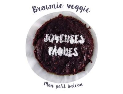 Spécial pâques : recettes végétales et déco minimaliste - brownie chocolat betterave
